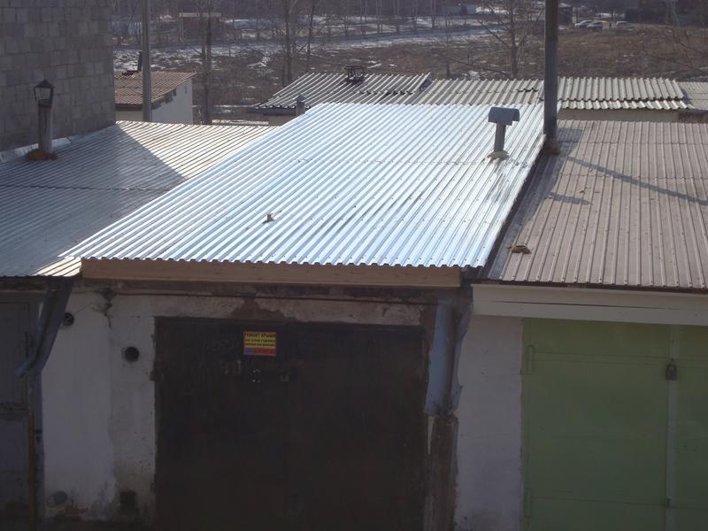 Как покрыть крышу профлистом на гараже своими руками